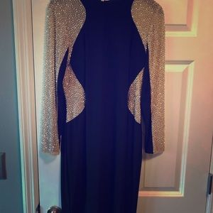 Stunning black and gold sparkling beaded dress